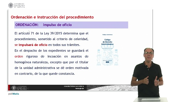 Unidad 6. Ordenación e instrucción del procedimiento.
