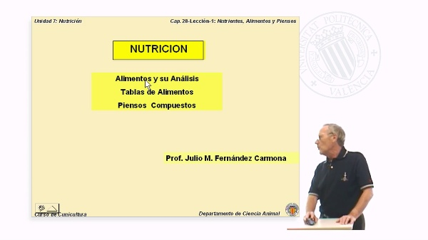 Nutrientes, alimentos y piensos - Parte 1