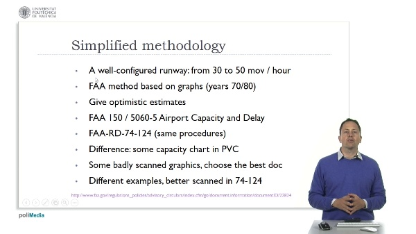Airport capacity 7. FAA simplified method to calculate capacity.