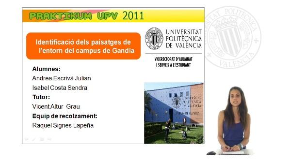 Identificació dels paisatges de l'entorn del Campus Gandia. Parte II.