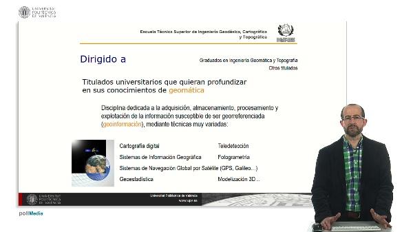 Presentación. Máster Universitario en Ingeniería Geomática y Geoinformación.1