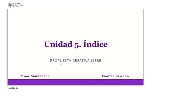 Unidad 5. Índice.
