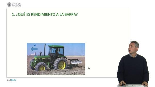 El rendimiento a la barra de un tractor