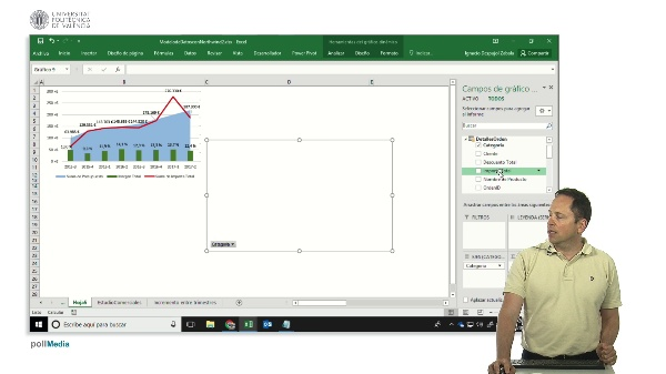 Excel. Agregar gráfico dinámico a panel