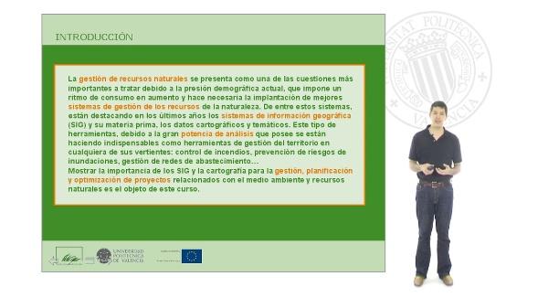 Sistemas de información geográfica aplicados a la gestión de recursos naturales