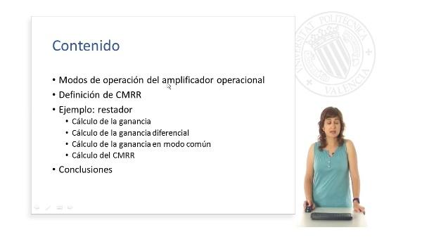 Cálculo de CMRR con amplificadores operacionales.
