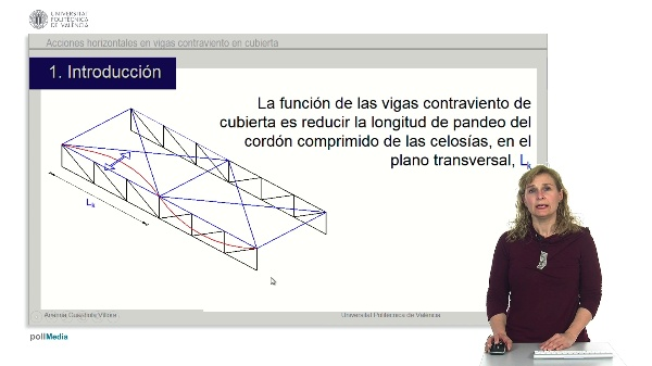 Acciones horizontales en vigas contraviento de cubierta