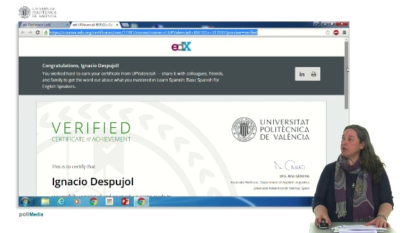 EdX downloading a certificate