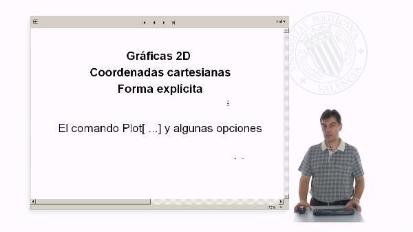 Gráficas 2D. Curvas en coordenadas cartesianas (Forma explícita) con Mathematica