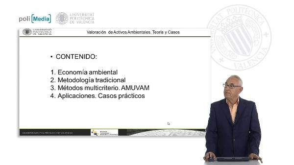 Valoración de activos ambientales. Teoría y Casos. Presentación.