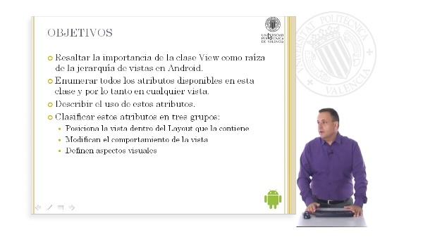 Atributos de la clase View en Android