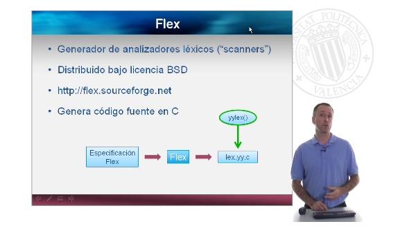 Flex. Desarrollo de un analizador léxico usando Flex