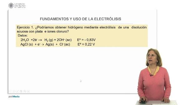 Fundamento y uso de la electrólisis. Ejercicios