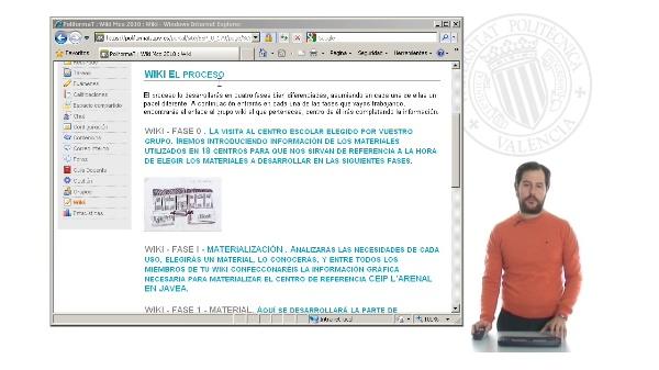 Empleo herramienta Wiki para la materialización en grupo de un proyecto arquitectónico. Fase IB