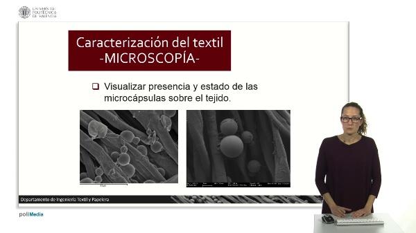 Caracterización del textil. MICROSCOPÍA.