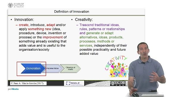 Creativity and its relationship to innovation