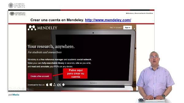 Gestión de referencias bibliográficas: Mendeley. Crear una cuenta en Mendeley.