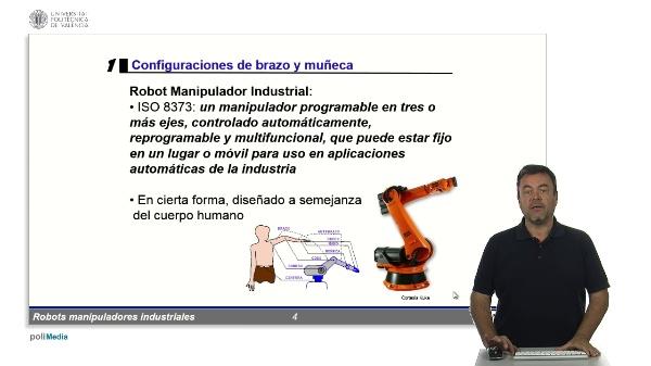 RMIs - configuraciones de brazo y muñeca