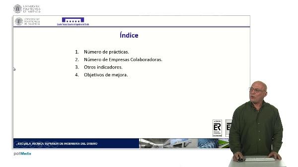 Prácticas en Empresa. Algunos indicadores en la ETSID.