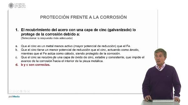 Protección frente a la corrosión. Ejercicios prácticos C
