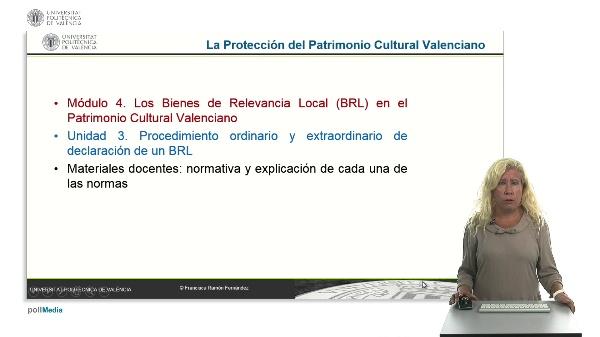 La protección del Patrimonio Cultural valenciano. Módulo 4. Unidad 3