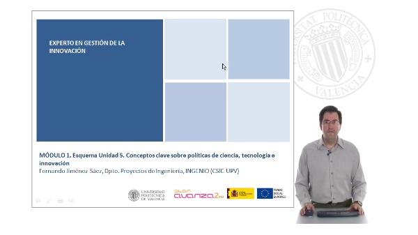 MÓDULO 1. Esquema Unidad 5. Conceptos clave sobre políticas de ciencia, tecnología e innovación