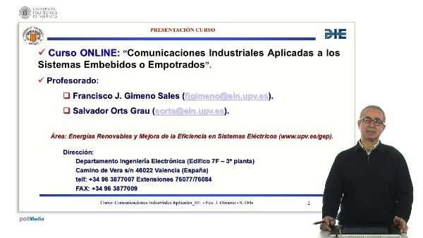 Presentación curso comunicaciones de sistemas embebidos