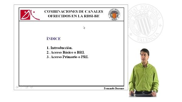 Combinaciones de canales ofrecidos en la RDSI-BE