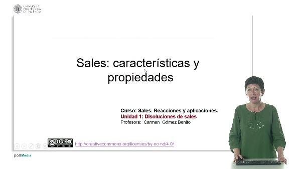 Sales: características y propiedades.