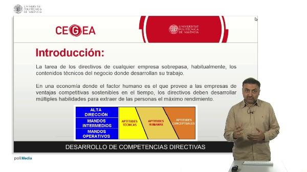 Presentación asignatura DCDGE. Desarrollo de competencias directivas para la gestión empresarial