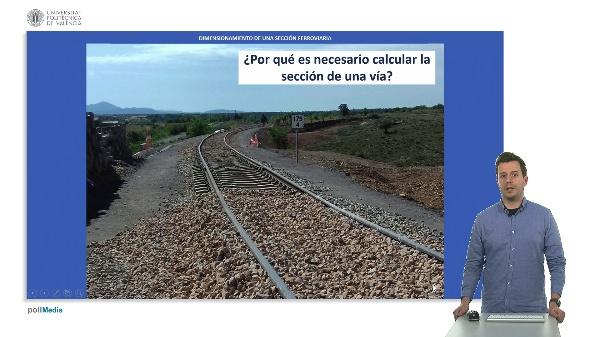 Dimensionamiento de una sección ferroviaria