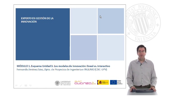 MÓDULO 1. Esquema Unidad 3. Los modelos de innovación: lineal vs. interactivo