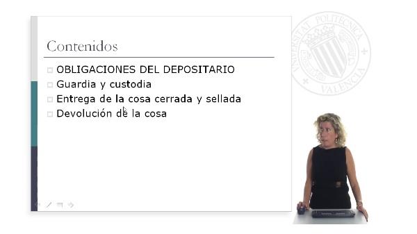Obligaciones del depositario (I)