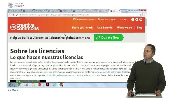 Buscar en Internet. Crear licencia Creative Commons