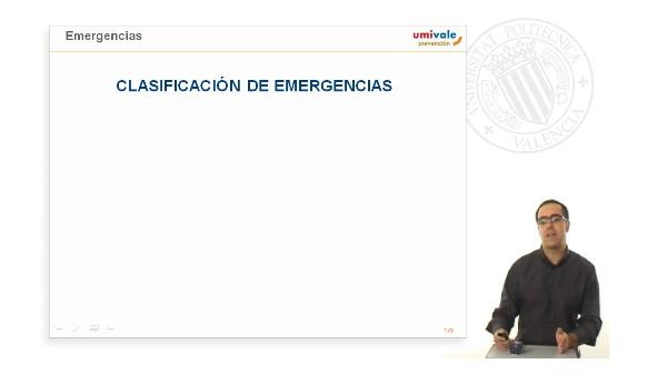 Medidas de emergencia y evacuación.