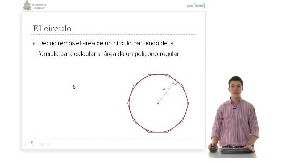 El círculo como polígono regular de infinitos lados