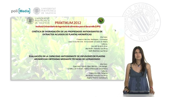 Cinética de degradación de las propiedades antioxidantes de extractos acuosos de plantas aromáticas