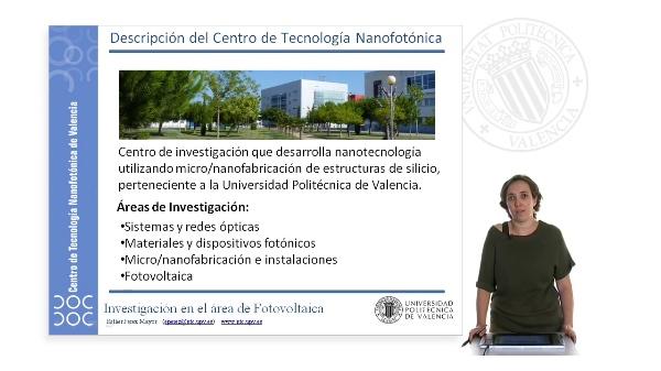 Descripción del Centro de Tecnología Nanofotónica