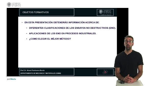 CLASIFICACIÓN Y APLICACIÓN DE ENSAYOS NO DESTRUCTIVOS (END)