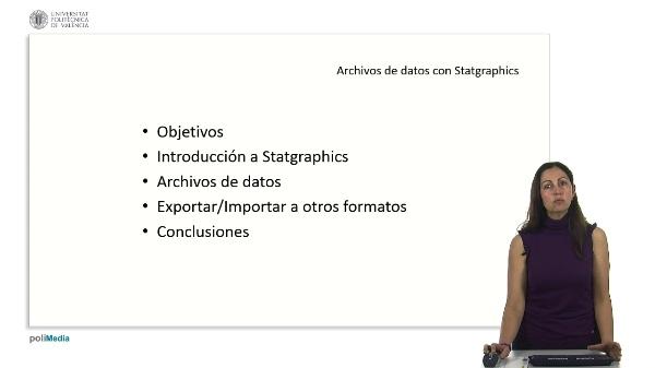 Archivos de datos con Statgraphics
