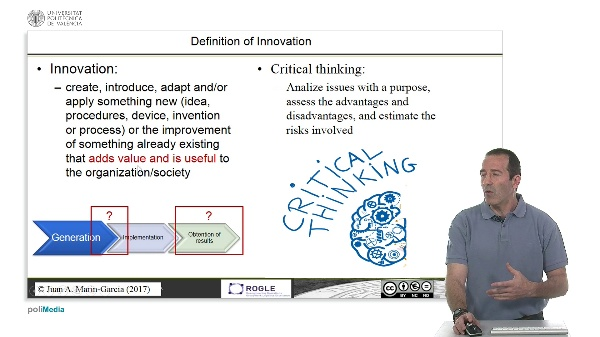 Critical thinking and its relationship to innovation