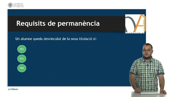 - Normativa de Progrés i Permanéncia DAUPV