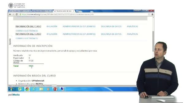 Panel de control del instructor edX.org