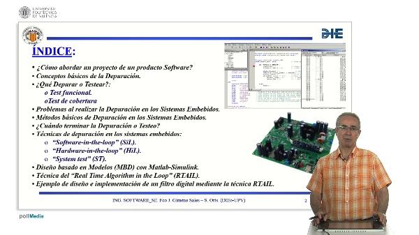 Curso de ingeniería del software para sistemas embebidos. Modulo 16. Parte 1. Depuración del software.
