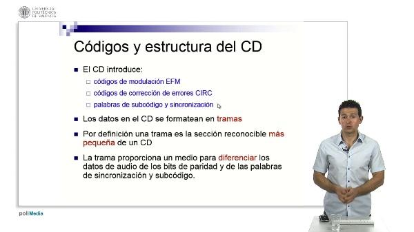 El CD: códigos de modulación y corrección