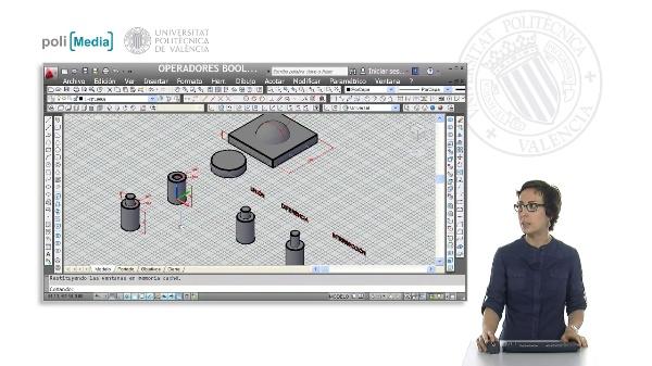 Modelado 3D mediante operadores booleanos con Autocad
