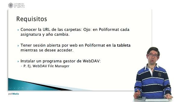 Configuración de WebDAV en Android. Aplicación a PoliformaT.