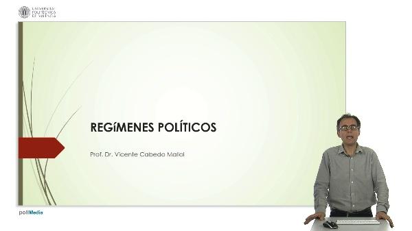 Regímenes políticos