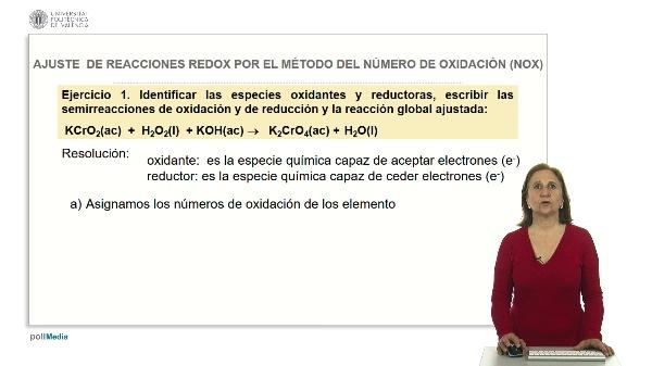 Ajustes de reacciones redox por el método del número de oxidación (Nox). Ejercicios prácticos