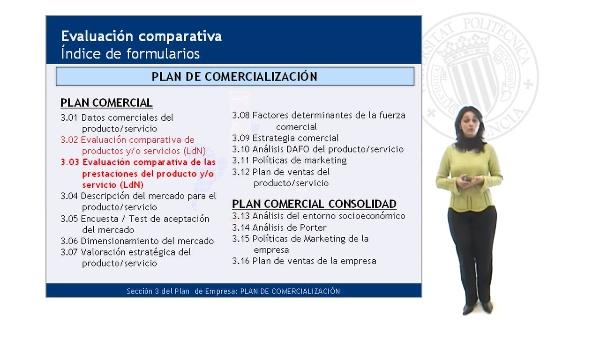 Evaluación comparativa de las prestaciones del producto/servicio